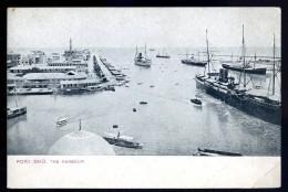 Cpa Egypte  Port Saïd  The Harbour    AO6 - Port Said