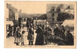 C P A------29-----PONT-L'ABBE-----la Place Dumahallc'h--entrée Des Ursulines-----voir 2 Scans - Pont L'Abbe