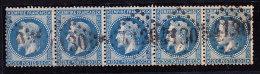 N°29A - Bde De 5 - Obl GC 4130 - B/TB - 1863-1870 Napoléon III Lauré
