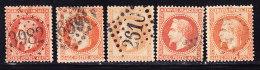 N°31 X 5 Nuances - TB - 1863-1870 Napoléon III Lauré