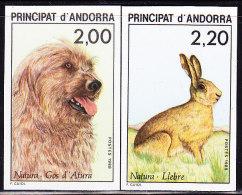 Non Dentelé N°373/74 - Chiens/Lièvre - TB - French Andorra