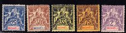 N°7/9, 13, 15 - TB - Mohéli (1906-1912)