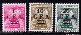 Taxe N°45/47 - TB - Reunion Island (1852-1975)