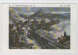 STARA RAZGLEDNICA CRNI VRH 1882 K.U.K. INFANTERIE-REGIMENT  MILITARY MILITARIA KARL SCHWIDERNOCH  OLDPOSTCARD - Slovenia