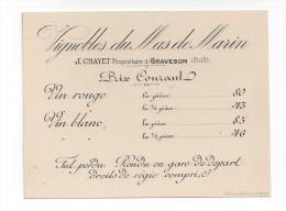 Graveson  -  Vignoble Du Mas De Marin  -  J. Chayet  Propriétaire  -  Tarifs - Frankrijk