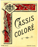 Ancienne étiquette - Cassis Coloré - - Autres