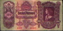HONGRIE - 100 Pengö 1930 - Hongrie