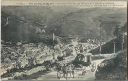 15 - CHAUDESAIGUES - Dans La Profonde Vallée Du Remontalou... Vue Prise De La Route De Fournels - Attelage - Other Municipalities