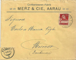 "Motiv Brief  ""Merz, Confiseriewaren, Aarau""              1915 - Suisse"