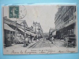 Troyes  Rue De La République  Belle Carte - Troyes