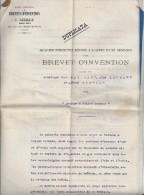 Dépot D'unBrevet D'Invention  Avec Carte Photo Et Dessin -  Brûleur à Huiles Lourdes - 3 Feuillets - Vieux Papiers
