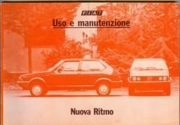 0070 FIAT NUOVA RITMO LIBRETTO USO E MANUTENZIONE 1983