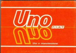0071 FIAT UNO LIBRETTO USO E MANUTENZIONE 1988