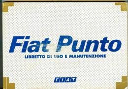 0072 FIAT PUNTO LIBRETTO USO E MANUTENZIONE 1999