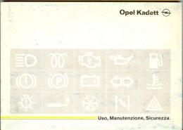 0073 OPEL KADETT   LIBRETTO USO E MANUTENZIONE 1990