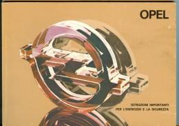 0074 OPEL KADETT ASCONA MANTA REKORD  LIBRETTO USO E MANUTENZIONE 1979