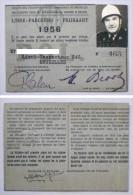STIB MIVB Libre-Parcours Vrijkaart 1956 Police de Bruxelles Politie Brussel - Tram Tramway Titre de transport