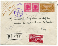 LIBAN ENTIER POSTAL RECOMMANDE DEPART TRIPOLI-LIBAN 20.XII.41 ARRIVEE ALEP - Liban