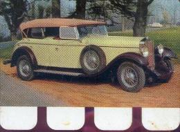 � DELAGE 1929 � plaquette m�tallique r�alis�e par le chocolat COOP  (1964)