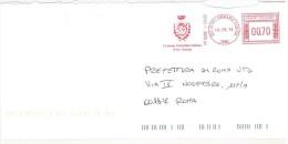 PALOMBARA SABINA CAP 00018 - ROMA  - ANNO 2014  RM - AMR -  LAZIO -TEMATICA COMUNI D´ITALIA - STORIA POSTALE - Affrancature Meccaniche Rosse (EMA)