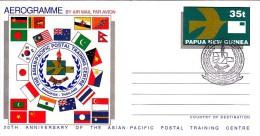 Pakistan Flag At Papua New Guinea Aerogram  (Red-706)