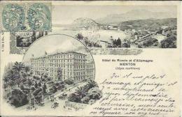 CPA De MENTON - Hôtel De Russie Et D'Allemagne. - Menton
