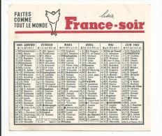 FRANCE SOIR 1963 - Calendriers