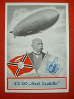 """""""Zeppelin""""-Schmuckkarte """"Zur Landungsfahrt Des LZ130 In Essen 1939"""" Von Deutsches Reich, Gelaufen - Allemagne"""