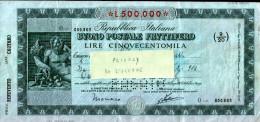 BUONO POSTALE FRUTTIFERO - 500 - Shareholdings