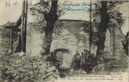 MILITARIA LA GRANDE GUERRE 14/18 : CARENCY Ruines De L'Eglise Oeuvre Des Boches Après Le Bombardement Allemand - Guerre 1914-18