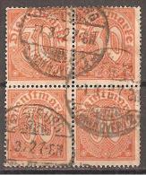 Deutsches Reich 1920 # Dienst - Michel 27 O 4er - Service