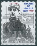 French Antarctic (FSAT), Charles De Gaulle, 1991, MNH VF  Air Post - Airmail