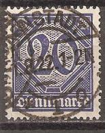 Deutsches Reich 1920 # Dienst - Michel 26 O - Service