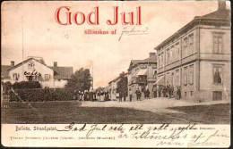 Bollnas Strandgatan,  Sweden - Sverige 1906 God Jul Tillonskas Af - Sweden