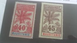 LOT 227290 TIMBRE DE COLONIE MAURITANIE NEUF* N�10/11 VALEUR 25 EUROS