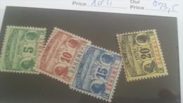 LOT 227301 TIMBRE DE COLONIE DAHOMEY NEUF* N�1 A 4 VALEUR 23,5 EUROS