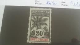 LOT 227304 TIMBRE DE COLONIE COTE IVOIRE NEUF* N�26 VALEUR 11,6 EUROS