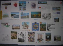 PAP  Prêt à Poster Oblitérés, Lot 25 PAP  Sur Timbres Sigle  € - (euro) Départements Divers - Postal Stamped Stationery
