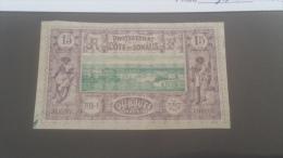 LOT 227317 TIMBRE DE COLONIE SOMALIS OBLITERE N�11 VALEUR 11 EUROS