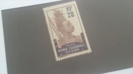 LOT 227341 TIMBRE DE COLONIE GABON NEUF* N�55 VALEUR 19 EUROS