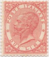 SI53D Italia Italy Regno 1863 2 L. - Effigie Di Vittorio Emanuele II Entro Un Ovale  Nuovo MLH - 1861-78 Vittorio Emanuele II