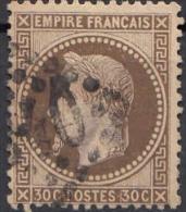1863 NAPOLEON III  30 C. BRUN N.30 YVERT - 1863-1870 Napoleon III With Laurels