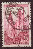 FRANCE - 1957 - YT N° 1129  -oblitéré - Cachet Rond Complet - Mulhouse Ht Rhin - 9  7 1958 - France
