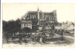 Cp, 80, Amiens,La Cathédrale Et Le Marché Sur L'eau, écrite 1932 ? - Amiens