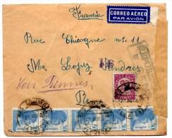 Lettre Par Avion De Beg De Urgel (XII.1938) Pour Rennes _Censura - Marques De Censures Républicaines