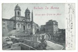 Cp, Italie, Rome, Chiesa Della Trinita Dei Monti, Voyagée 1904 - Roma
