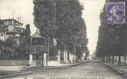 ILE - 92 - HAUTS DE SEINE -ASNIERES - Quai Vers Le Pont De Chemin De Fer - Asnieres Sur Seine