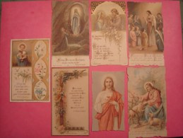 IMAGES PIEUSES . LOT DE 7 (BOUMARD, BOUASSE, ...) - Imágenes Religiosas