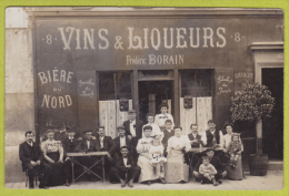 """Carte Photo - Vins & Liqueurs chez Fr�d�ric Borain, au 8 (rue du March�, � Puteaux 92) � confirmer, Pub """"Bi�re du No"""