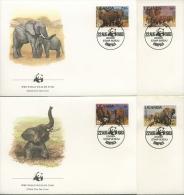 Uganda 1983 WWF Elephanten 361 /64 FDC (R1976) - Uganda (1962-...)